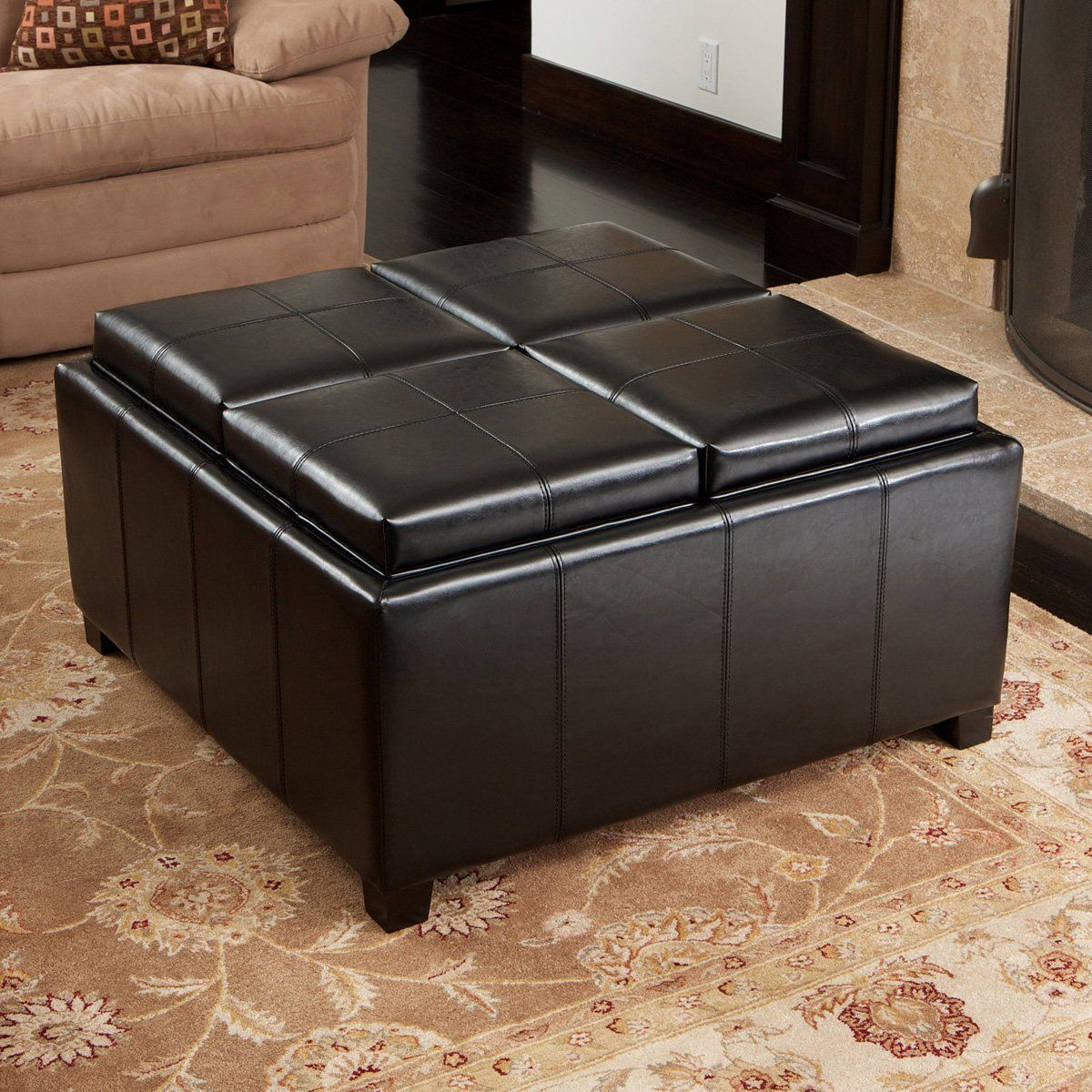 Best Selling Home Decor Dartmouth 4 Section Storage Ottoman