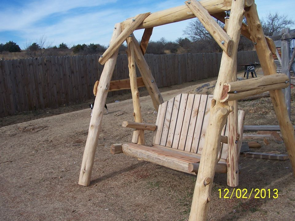 Awesome 2 Seater Log Swing From Wild West Creations