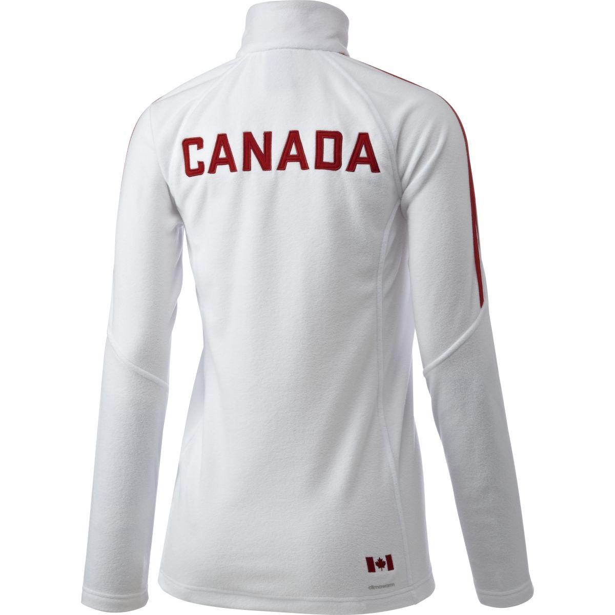 adidas Canadian Olympic Microfleece 1/4 Zip Long Sleeve