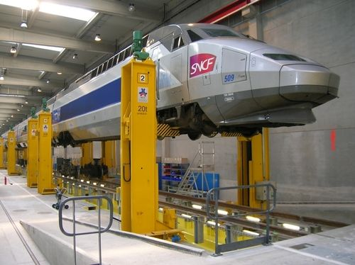 Sncf Maintenance How Strong Must That Lift Be To Raise A Trainset