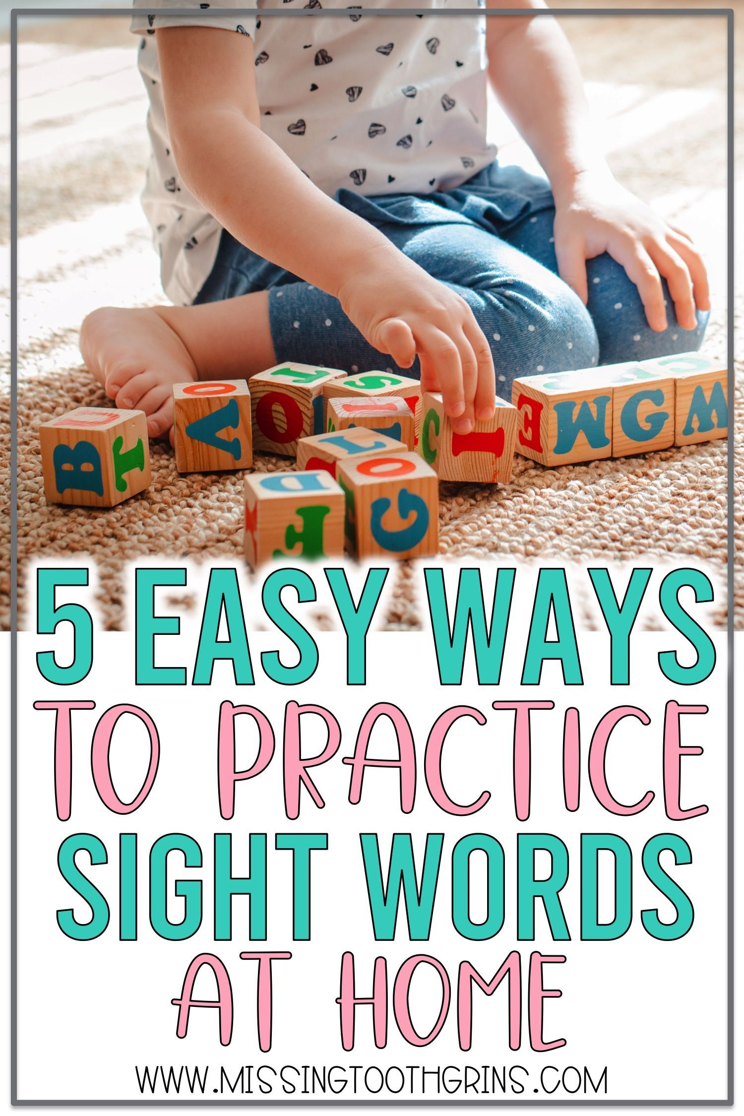 5 Ways To Practice Sight Words At Home