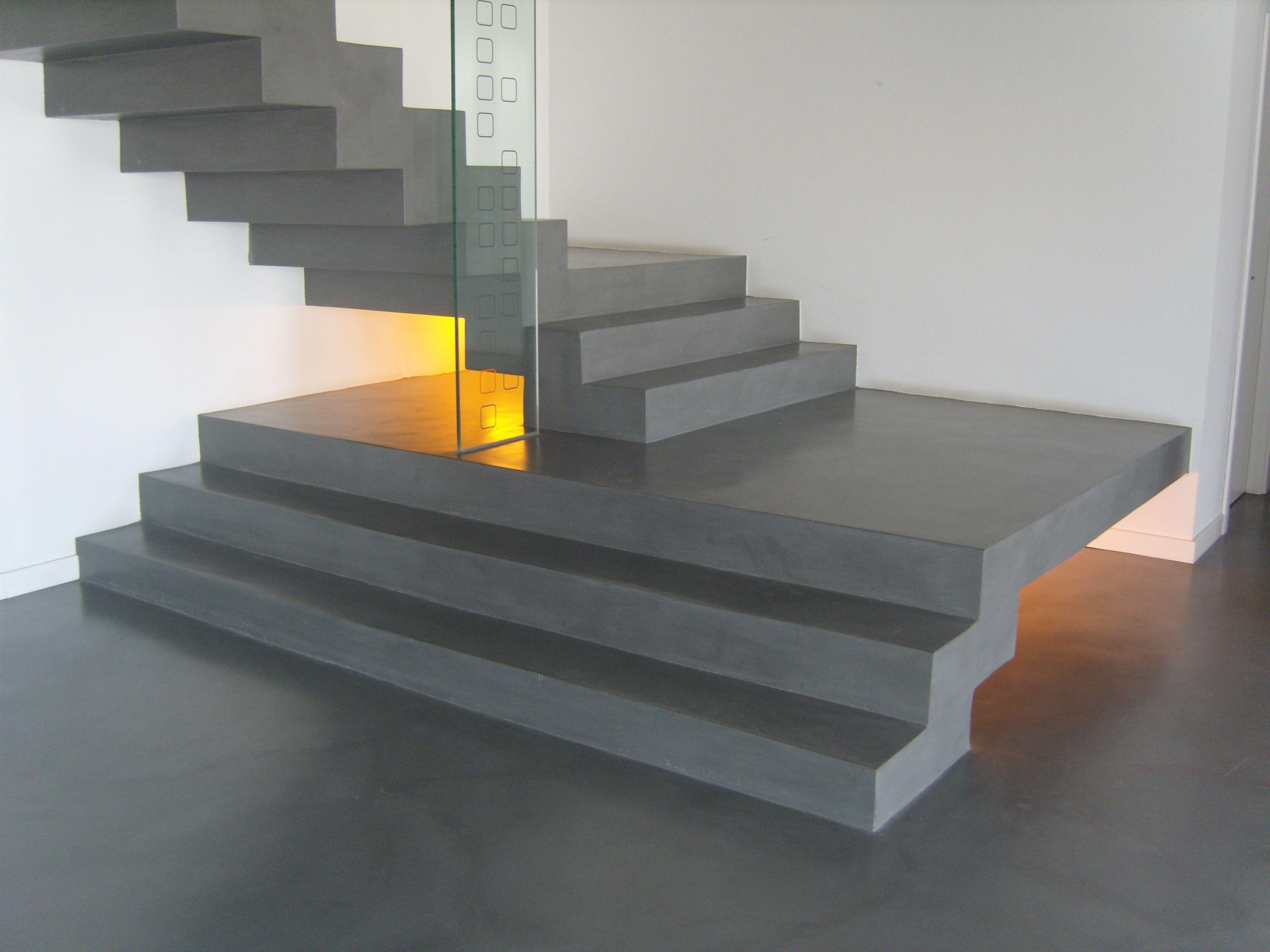 escaleras modernas con estilo vanguardista escalera de microcemento acabado urban xx - Escaleras Modernas