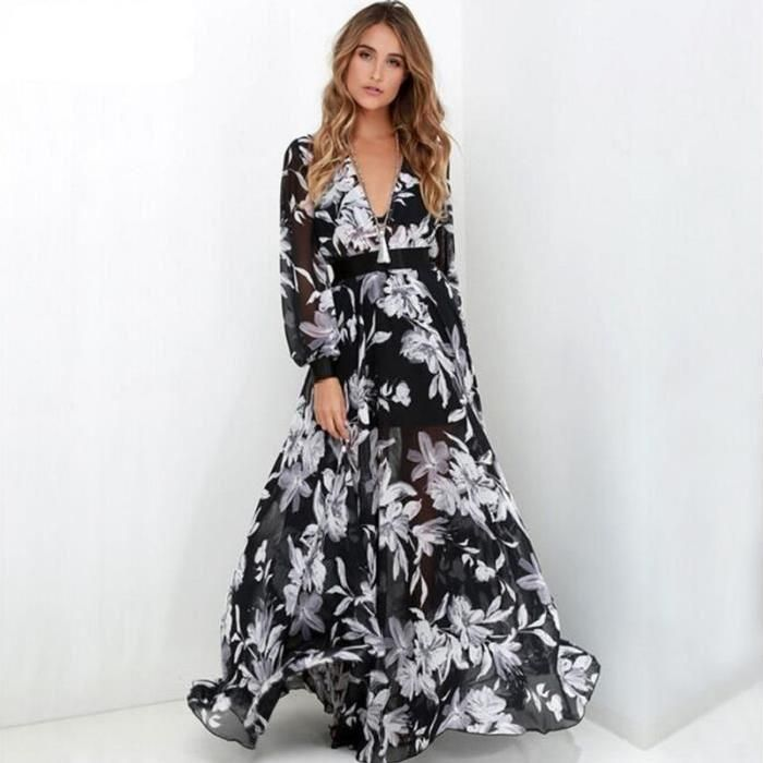 Belle robe longue chic