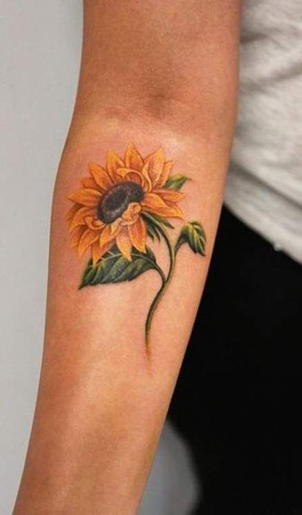 Photo of 61+  Ideas For Tattoo Sunflower Forearm Watercolor