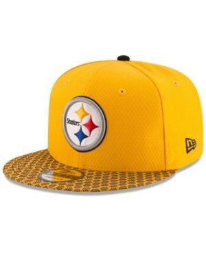 Pittsburgh Steelers New Era NFL 2018 Sideline 9FIFTY Snapback Hat Black