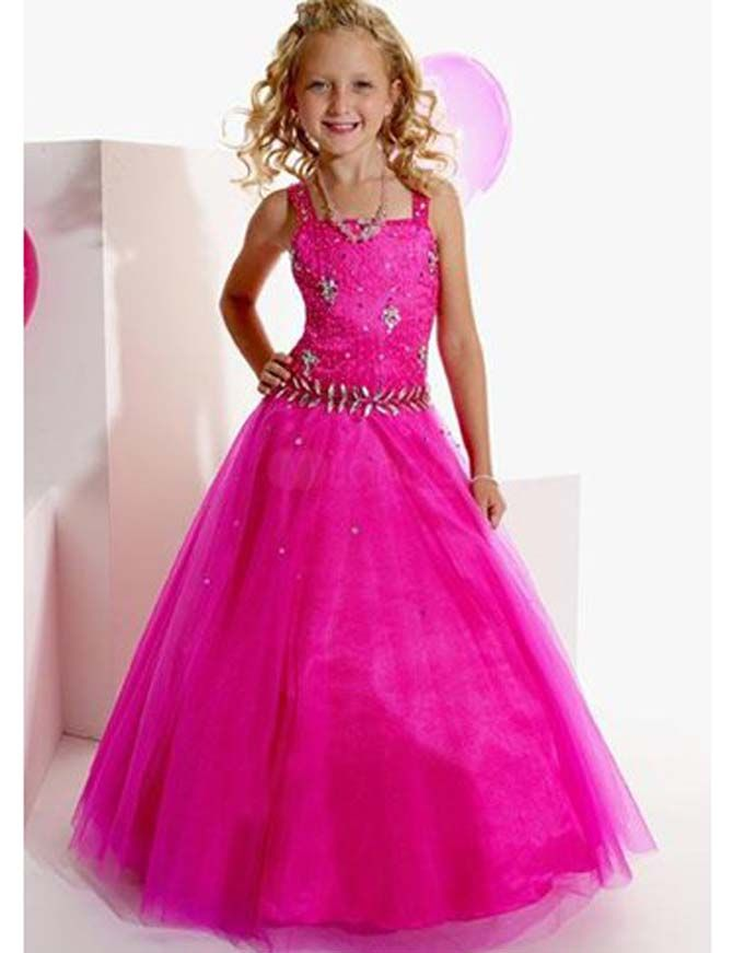 girls dresses for special occasions | ... Fuchsia Tulle Square ...
