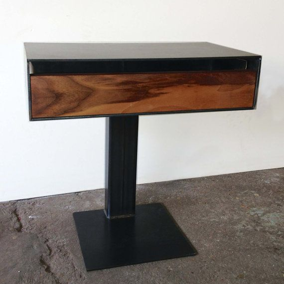 Best Handmade Industrial Modern Nightstand Is Crafted Using A 400 x 300