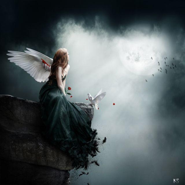 Днем, картинки грустных ангелов