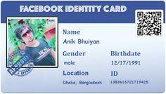Create Your Facebook ID Card anik Create yourself Create Cards