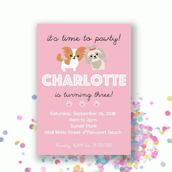 Puppy Party Birthday Invitation