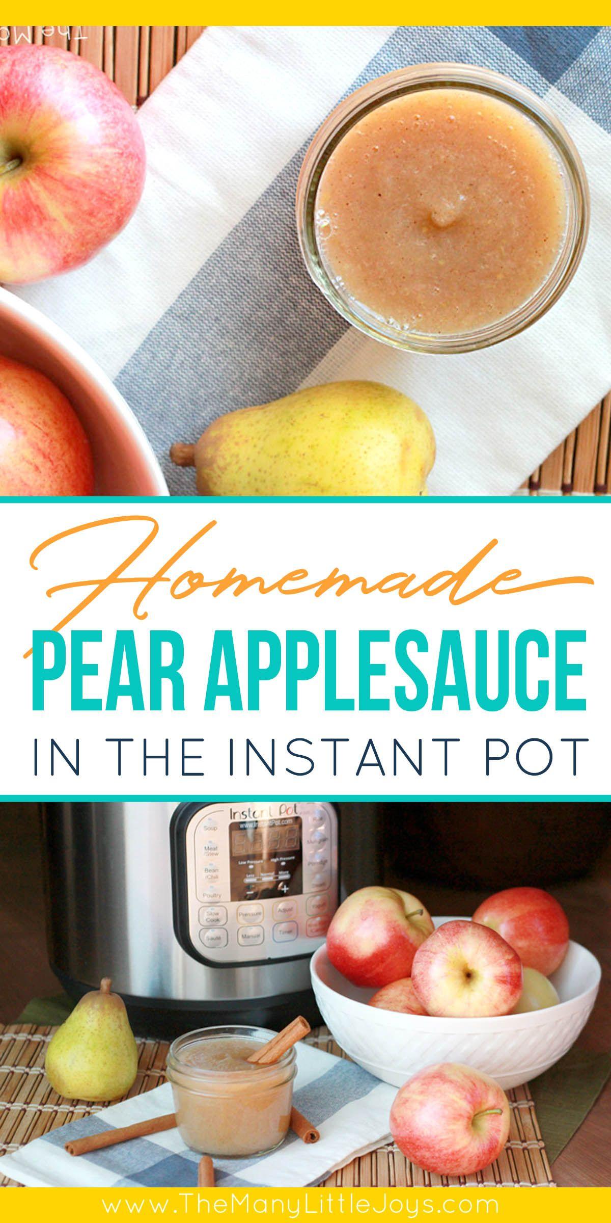 Easy Homemade Pear Applesauce (Instant Pot) – The Many Little Joys