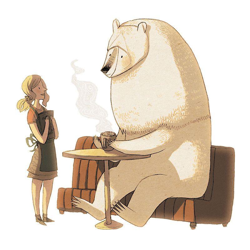 Polar Bear Coffee Break by znuese | Comic style art, Art ...