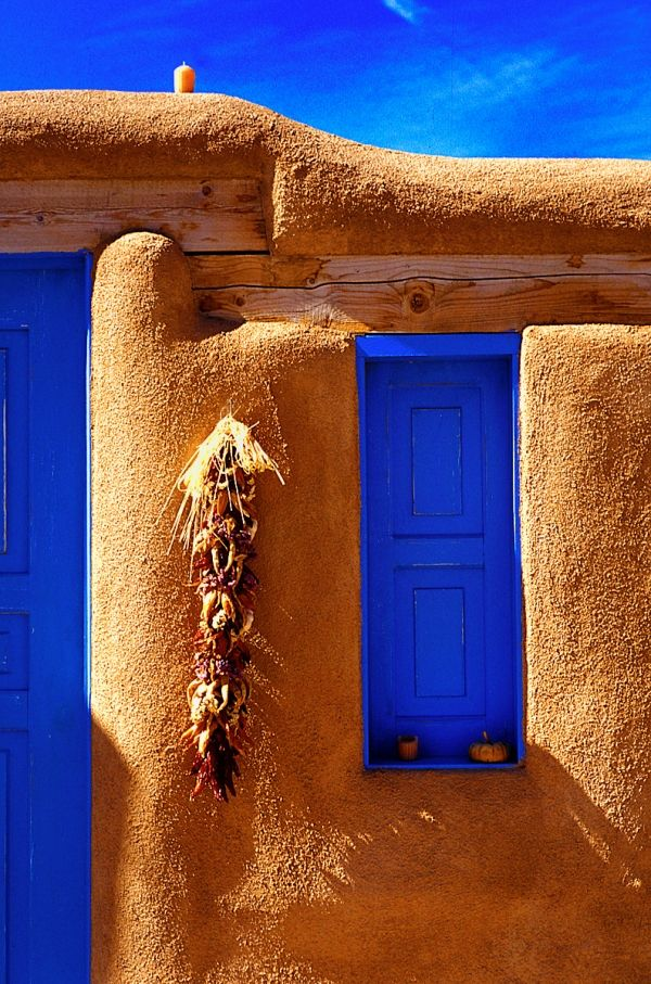 Blue Window Beautiful Doors Windows Santa Fe Style
