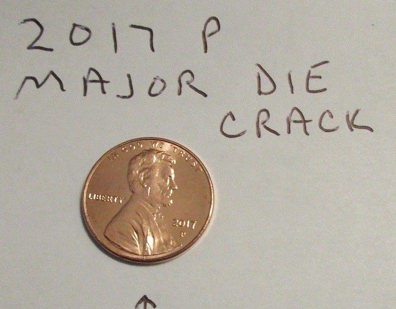 error #errorcoins 2017-P Lincoln Cent Major Obverse Die