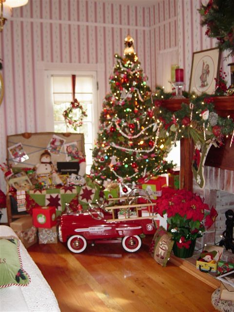 Old Timey Christmas Morning Only Thing Missing Is The Tinsel On Tree Even Has My Little Red Fire Truck