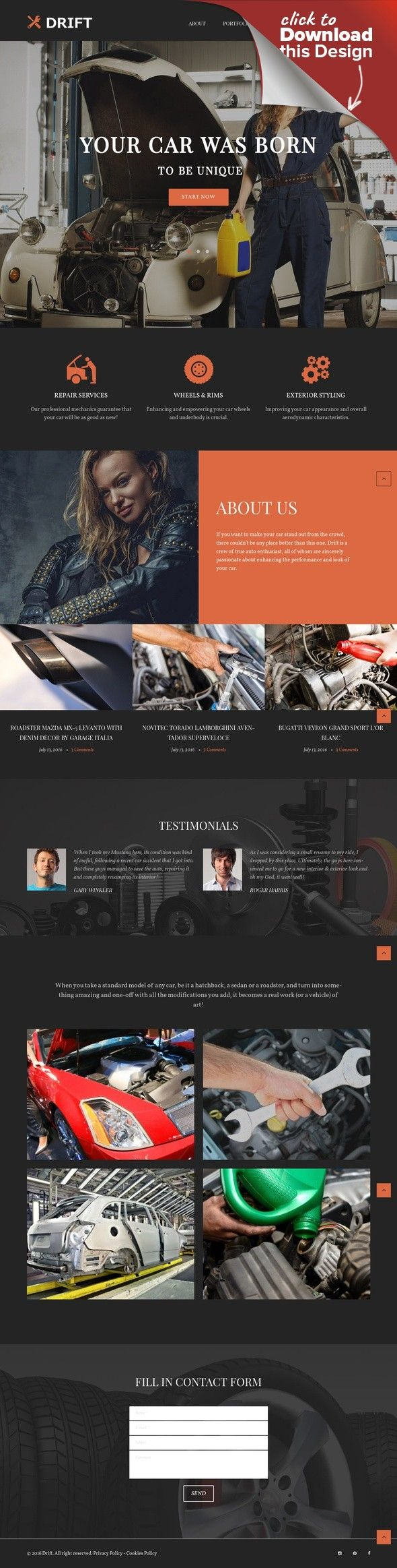 Tema de WordPress para Sitio de Tuning de coches | Tema de ...