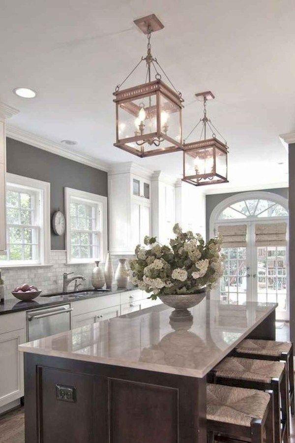 100 Elegant White Kitchen Cabinets Decor Ideas For Farmhouse Style Design - rDesignd.co
