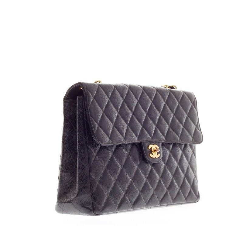 3a44574c88e1 Chanel Vintage Classic Flap Caviar Jumbo | From a collection of rare vintage  shoulder bags at