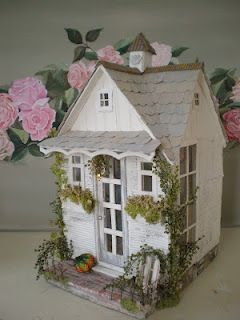 Craft Studio Dollhouse - would make a great Faery house!