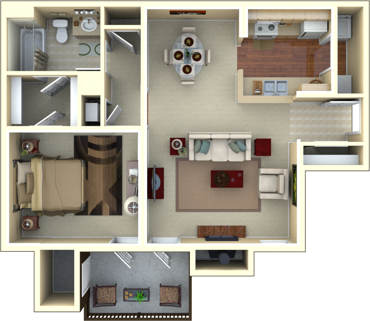Just you? No worries! This Spacious One Bedroom has 923 sq