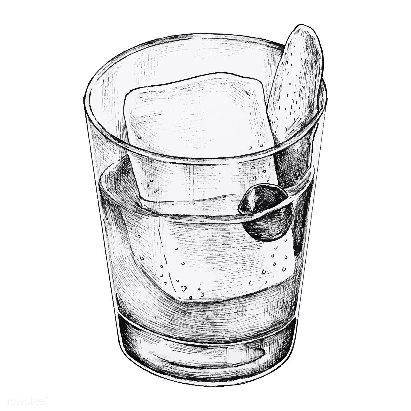 Hand Drawn Cocktail Drink Vector Premium Image By Rawpixel Com How To Draw Hands Cocktail Illustration Cocktail Drinks