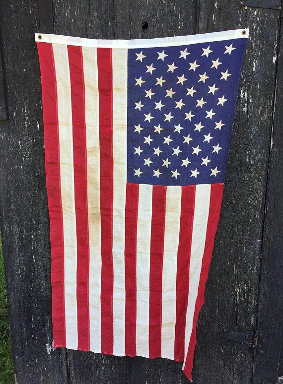 e8b47adfca3 Vintage American Flag 50 Stars USA