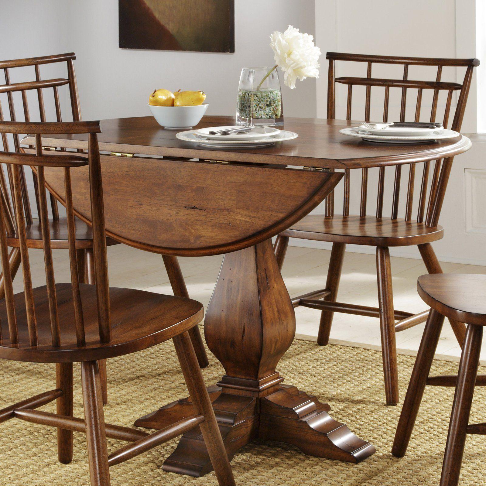 liberty furniture industries creations ii round drop leaf