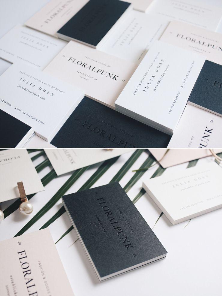 Elegant modern business card design inspiration floralpunk elegant modern business card design inspiration floralpunk reheart Image collections