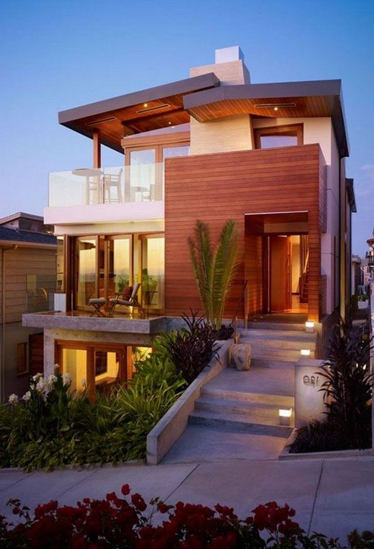 20 Unbelievably Beautiful Contemporary Home Exterior Designs: 55 Exciting Modern Adobe House Exterior Design Ideas #exteriordesign #exteriordesigncolor