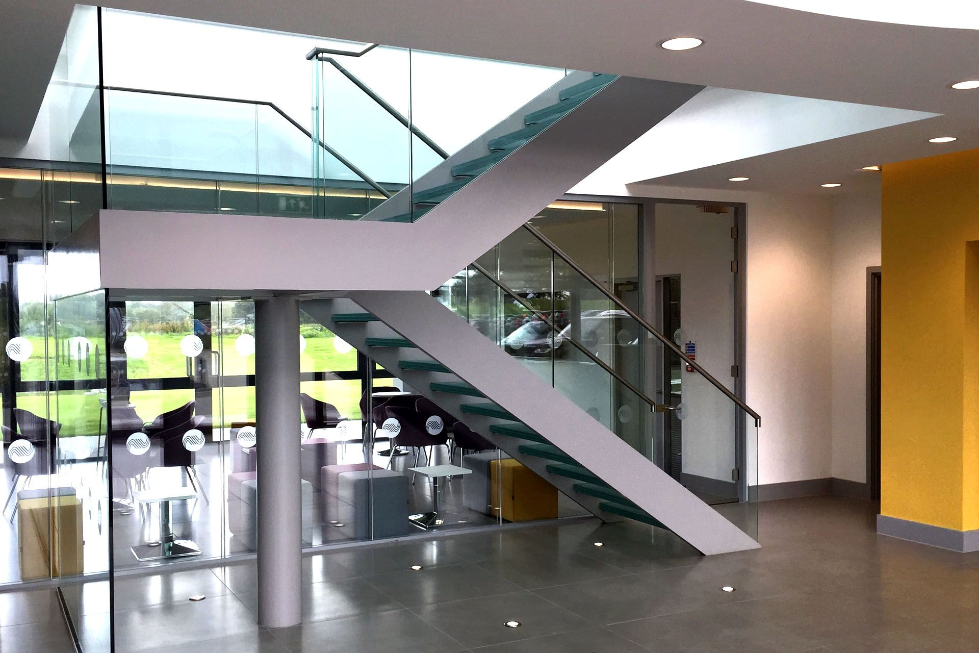 Best The New Modern Commercial Staircase For Avtrade In West 400 x 300