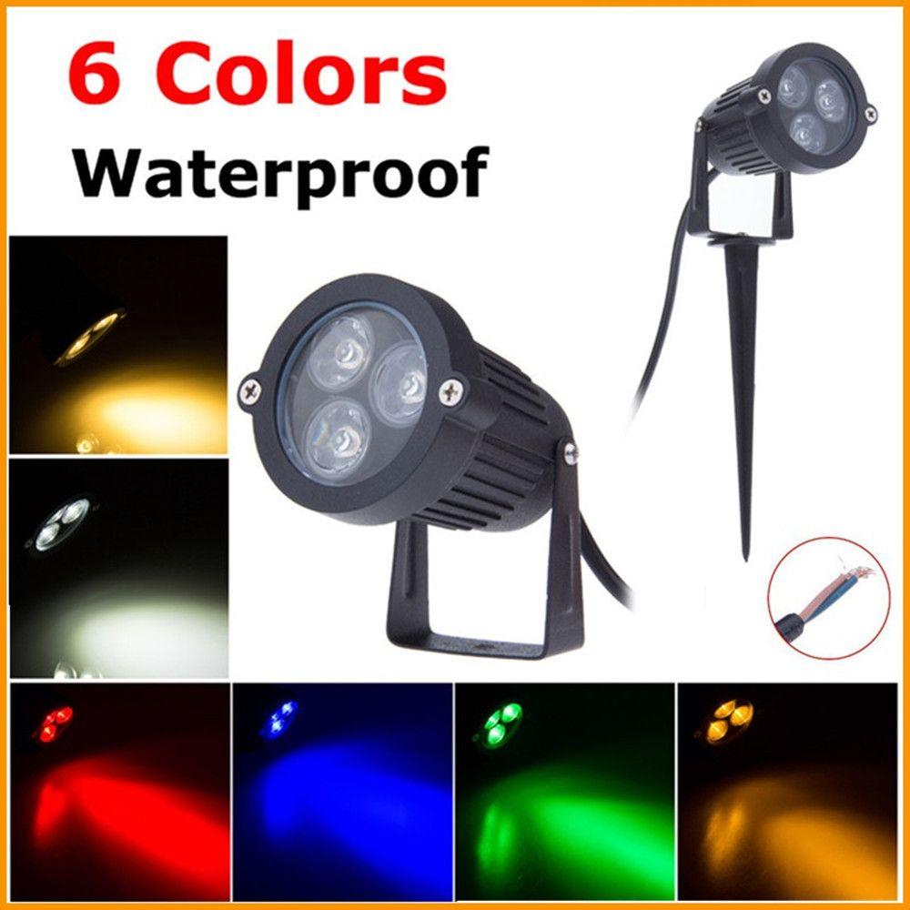 220v 110v Led Lawn Lamp Light Waterproof 9w Outdoor Garden Lighting Green Yellow Red Blue White 3w 9w L Outdoor Garden Lighting Outdoor Lighting Outdoor Garden
