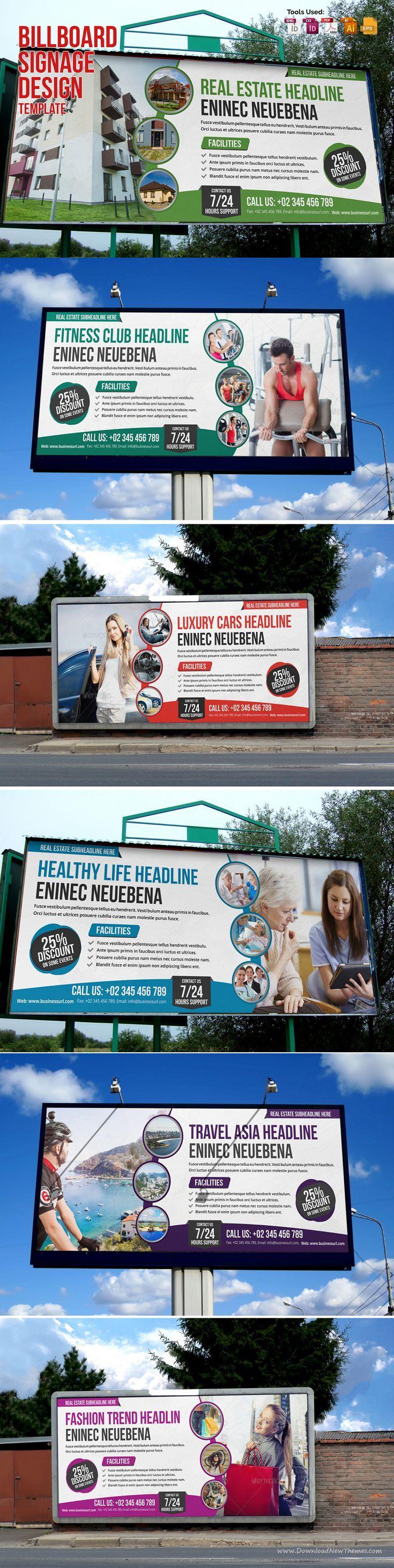 Real estate billboard design samples - 6 Creative Modern Multipurpose Billboard Signage Template Ready To Use