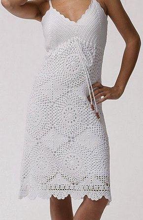 Crochet Dress Chart Pattern Crochetknitting Pinterest Chart