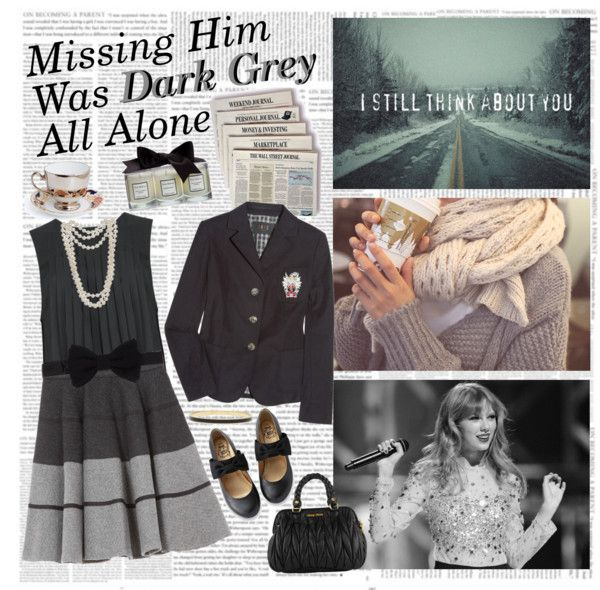 """Dark Grey"" by the-purple-queen ❤ liked on Polyvore"