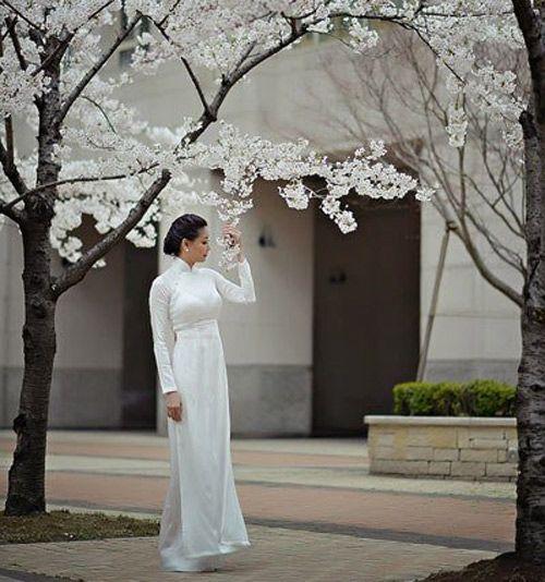 Hoa hậu Việt tinh khôi với áo dài, hoa hau viet ao dai, ao dai trang, ngoc han, mai phuong thuy, thuy dung, diem huong, thoi trang, thoi trang tre