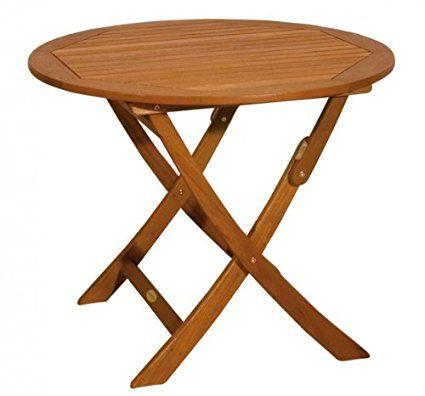 klapptisch gartentisch holztisch runder tisch klappbar aus massivem eukalyptusholz ge lt. Black Bedroom Furniture Sets. Home Design Ideas