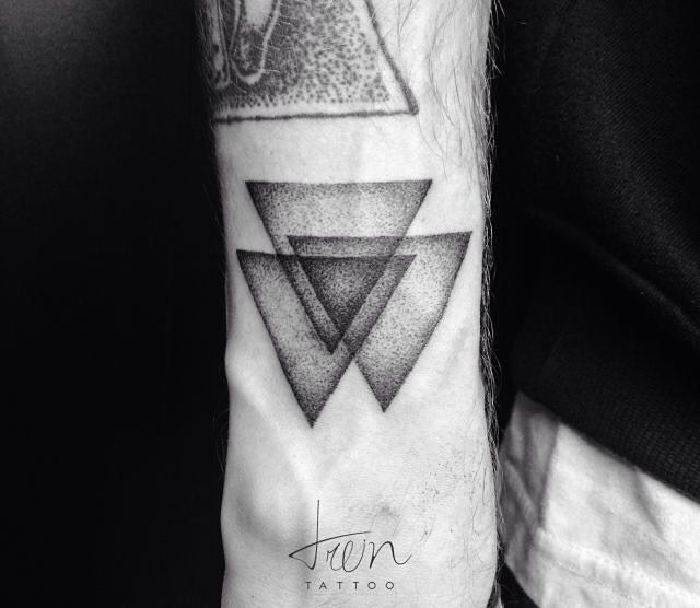 Three overlapping triangles dotwork tattoo triangle 3 monochrome three overlapping triangles dotwork tattoo triangle 3 monochrome venn ccuart Image collections