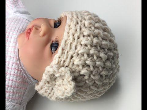 Einfache Mütze Häkeln Aus Büschelmaschen Tolle Wintermütze Häkeln