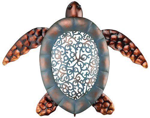 Tropical Ocean Sea Turtle Metal Wall Art Decor by Regal, http://www ...
