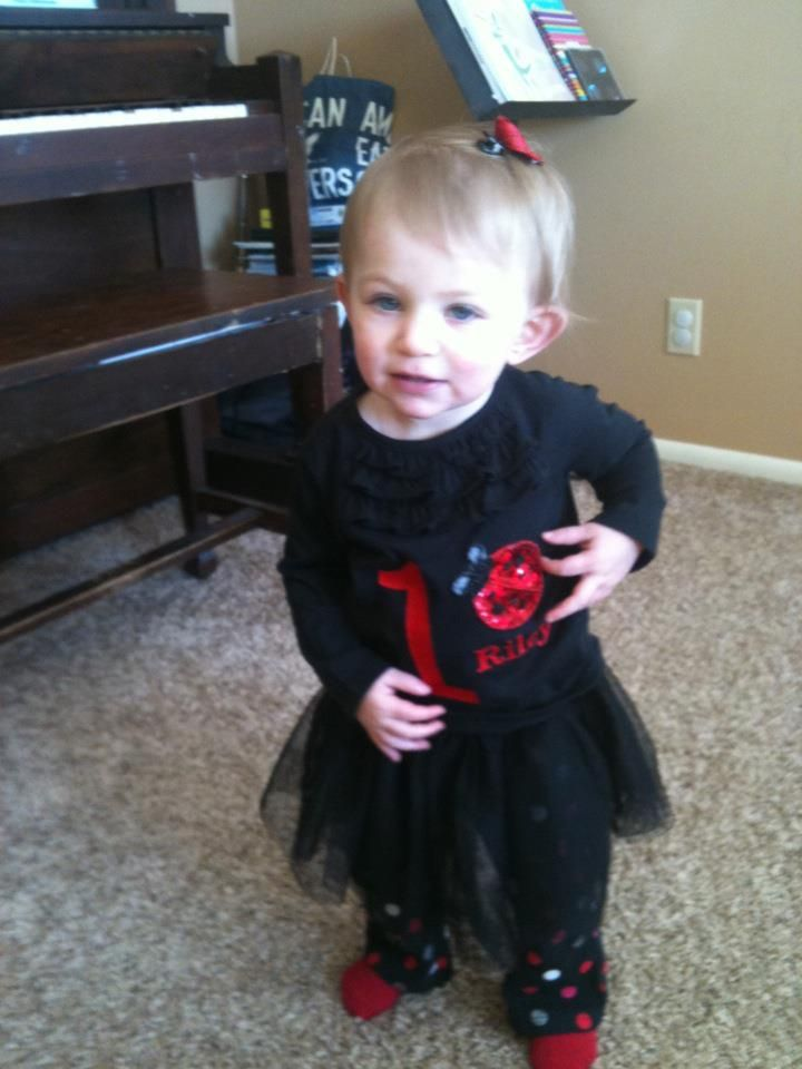 lady bug first birthday outfit.