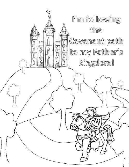 Boy coloring page LDS temple armor king CTR castle ...