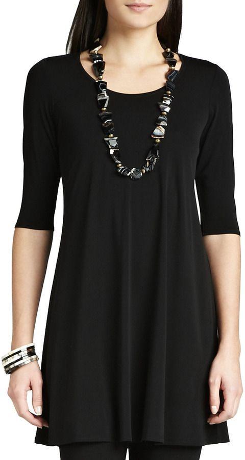 b19b60c902fa9b Eileen Fisher Viscose Jersey Tunic on shopstyle.com | Classroom ...