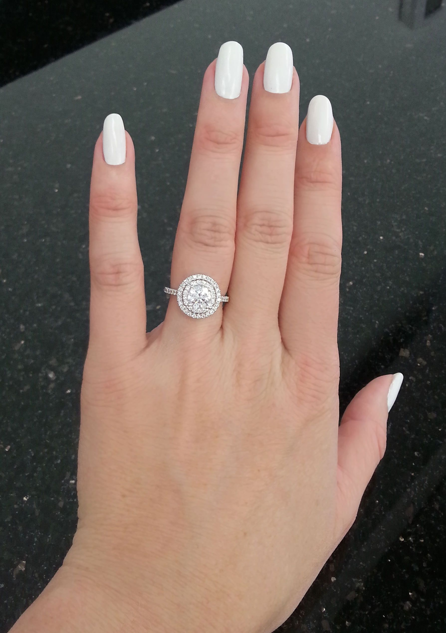 Celebrity Engagement Ring Trend Double Halos Love The Look Find Your Own Trending Engagement Rings Double Halo Engagement Ring Celebrity Engagement Rings