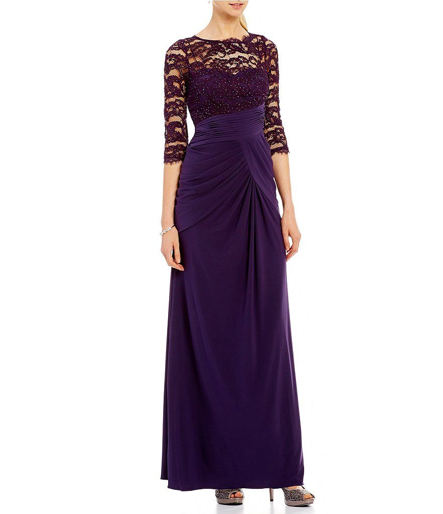 Adrianna papell lace bodice jersey gown lace bodice adrianna