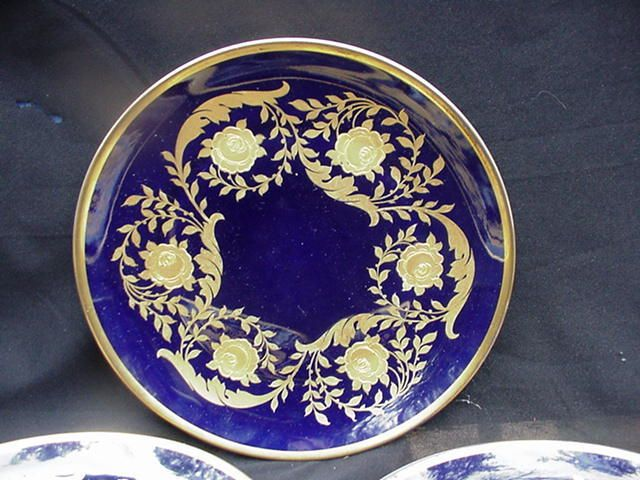 Three Rosenthal Cobalt and Gold Decorative Plates Germany & Three Rosenthal Cobalt and Gold Decorative Plates Germany | China ...