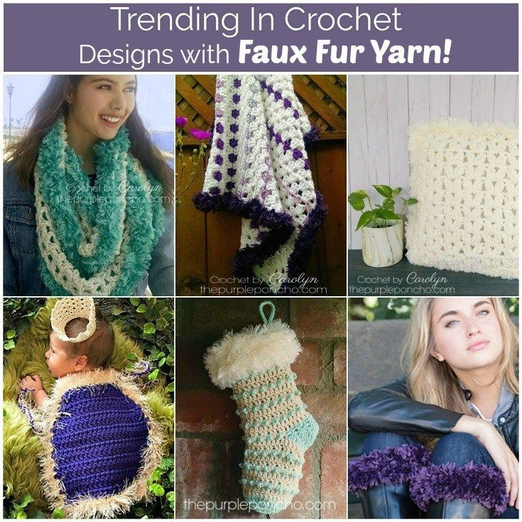 Trending In Crochet Design With Faux Fur Yarn Featured On The