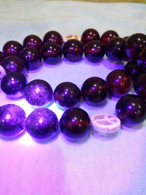 405 ct Natural Baltic amber rosary / mala black color