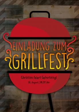 Elegant Trendy Einladung Zum Grillfest, Auch Zum Wintergrillen! Nur Text Einsetzen!  #Barbecue#