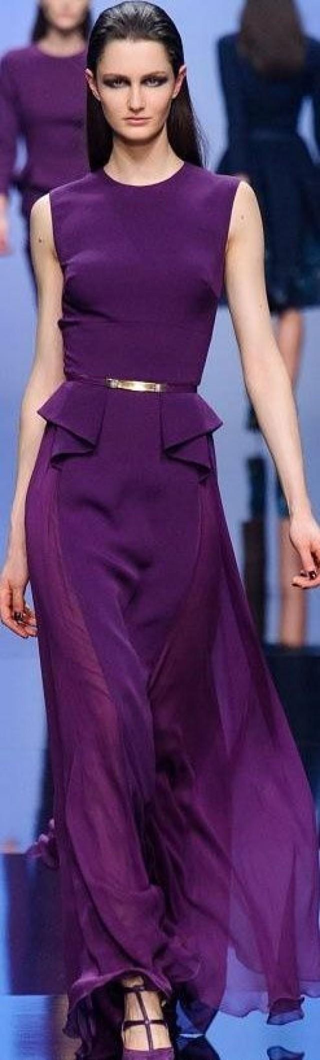Elie Saab purple