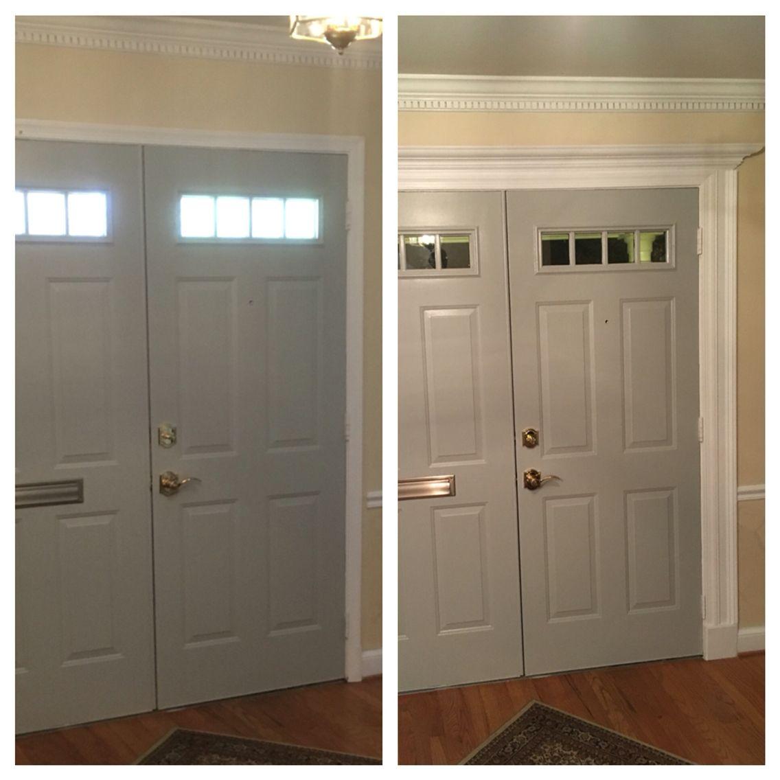 Diy Entry Door Easy Adding Trim To Enhance Entryway Diy Stuff